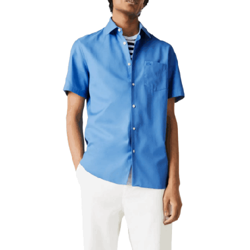 Lacoste Regular Fit Pocket Short Sleeve Button Up