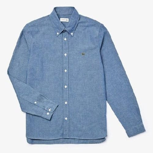 Lacoste Slim Fit Cotton Chambray Shirt