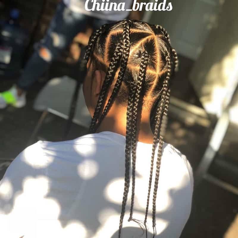 Large Wide Sectioned Box Braids