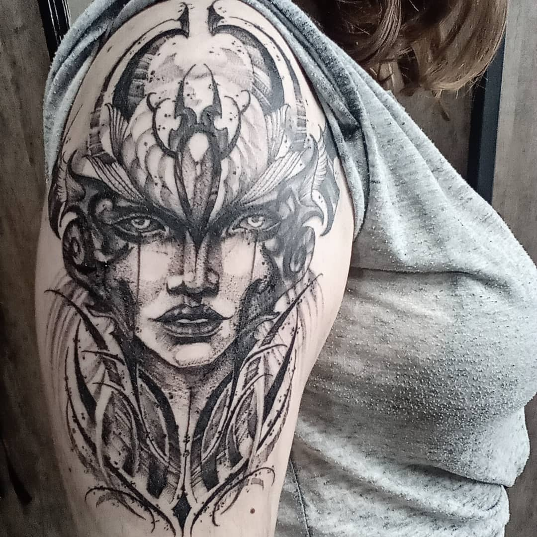 Black League of Legends Tattoo -carrankaa
