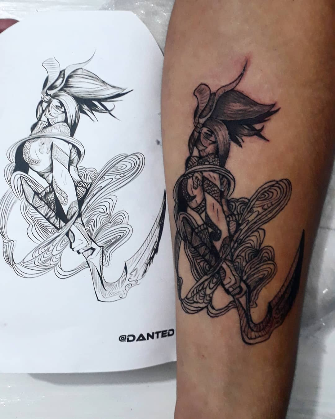 Black League of Legends Tattoo -diiartes_tattoo
