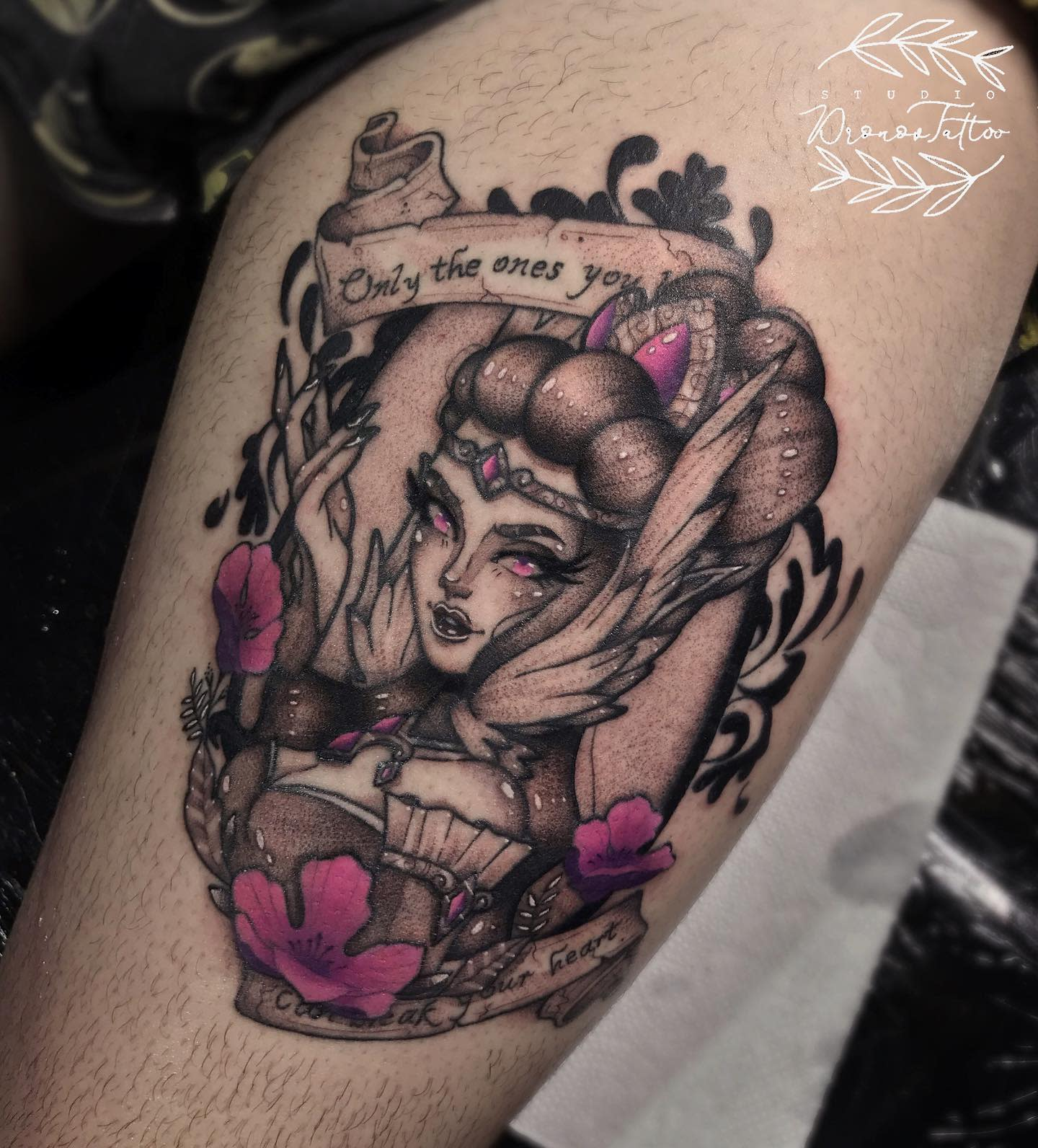League of Legends Leg Tattoo -dronov.tattoo