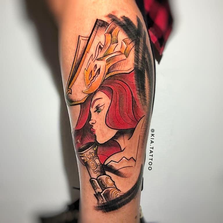League of Legends Leg Tattoo -kia.tattoo