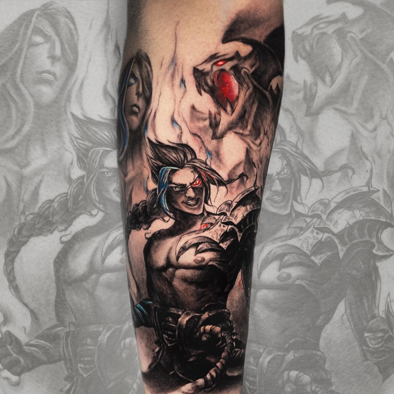 League of Legends Sleeve Tattoo -marcosptorre.tattoo