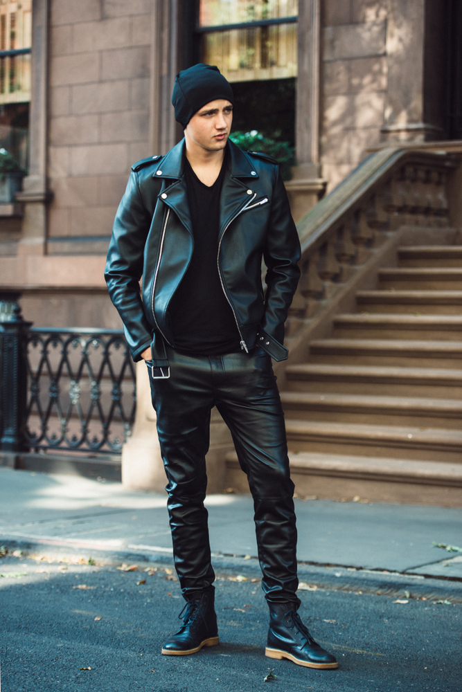 All Black Leather Jacket Styles 4
