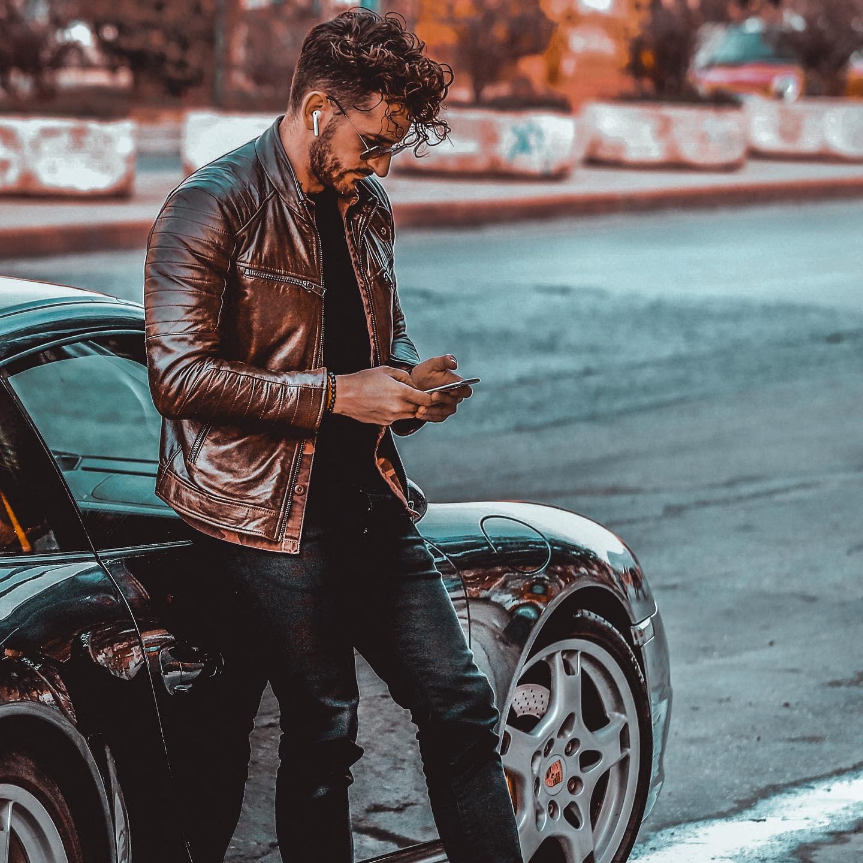 Brown Leather Jacket Styles -nikosmagos