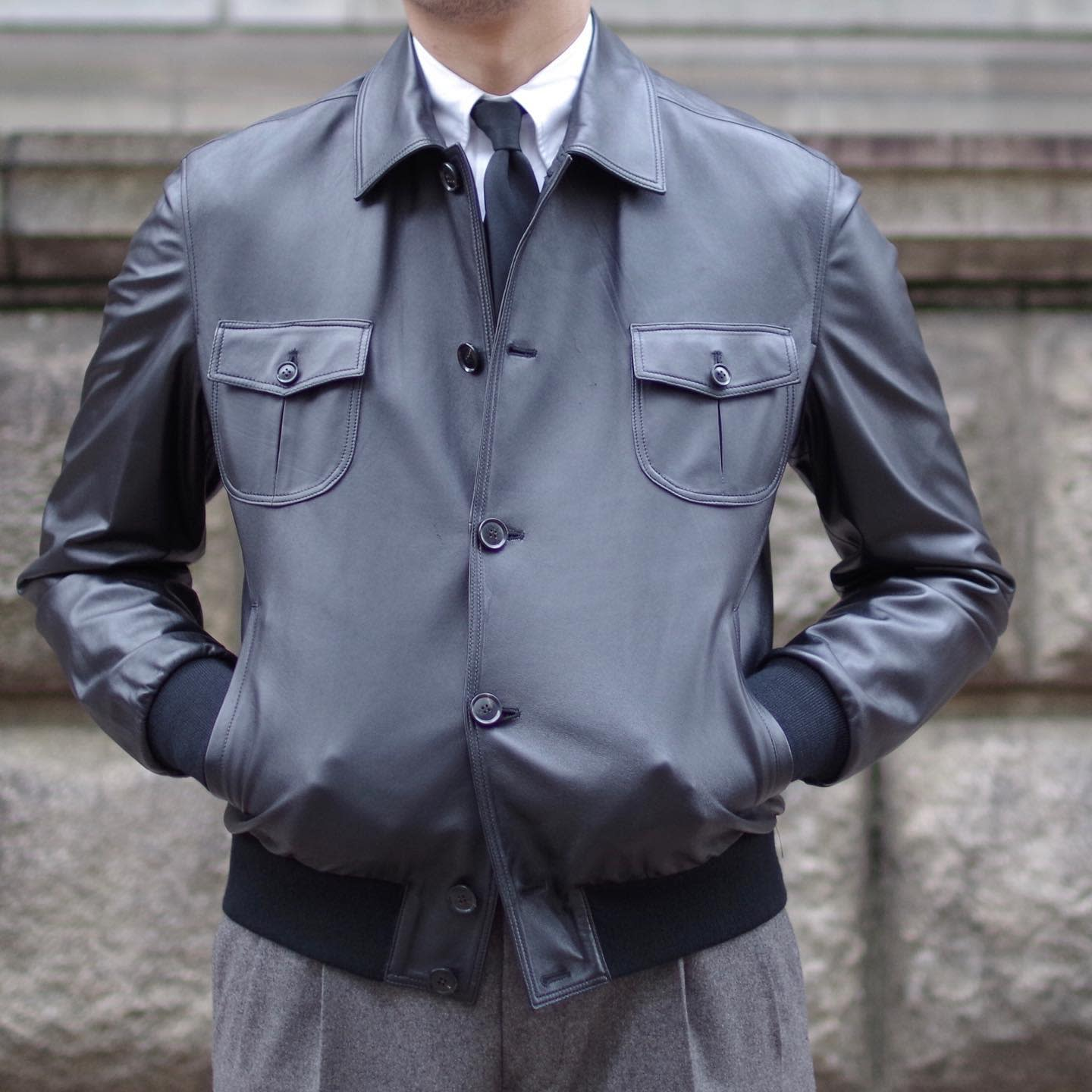 Formal Leather Jacket Styles -mitsukoshi_mens_personal_order
