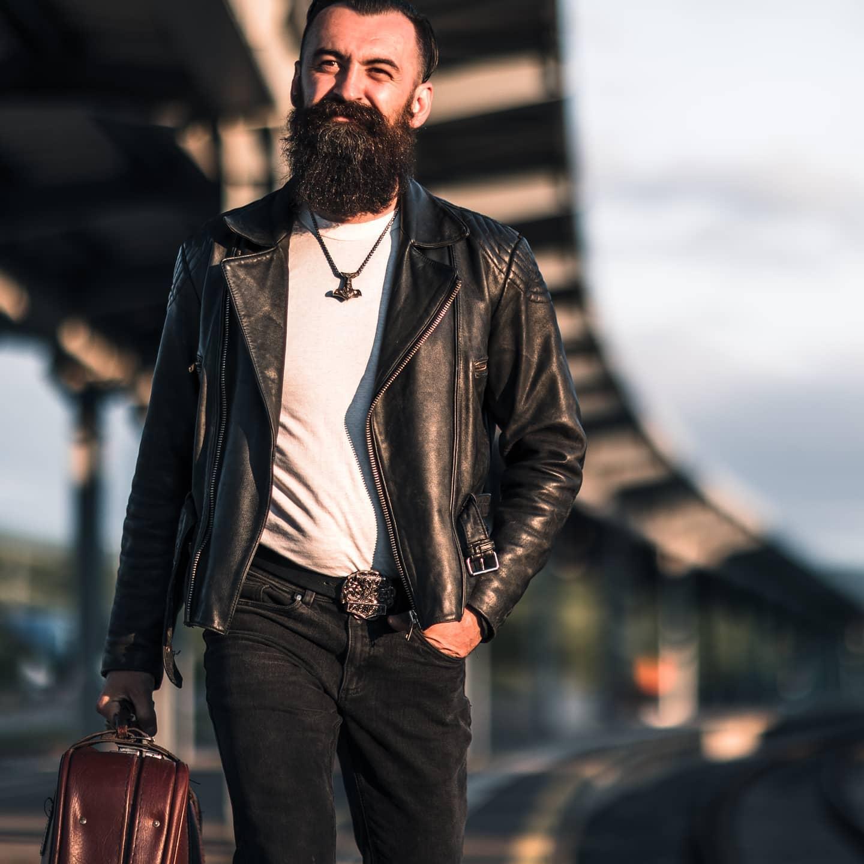 Rugged Leather Jacket Styles -bearded_crainic