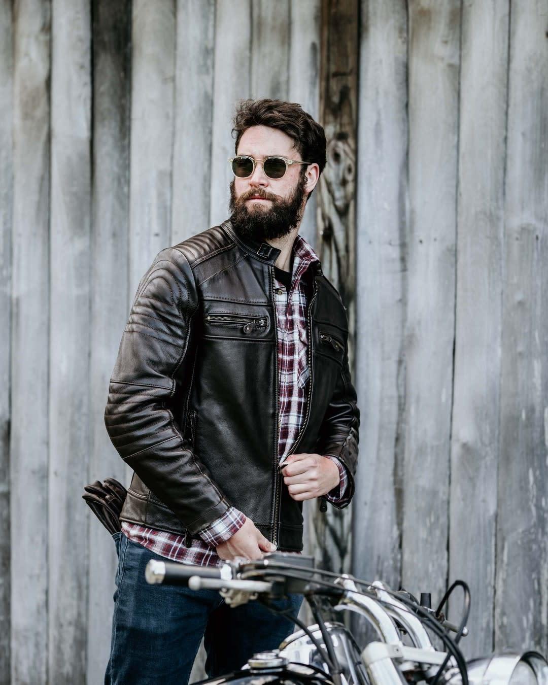 Rugged Leather Jacket Styles -blackbirdmotorcyclewear