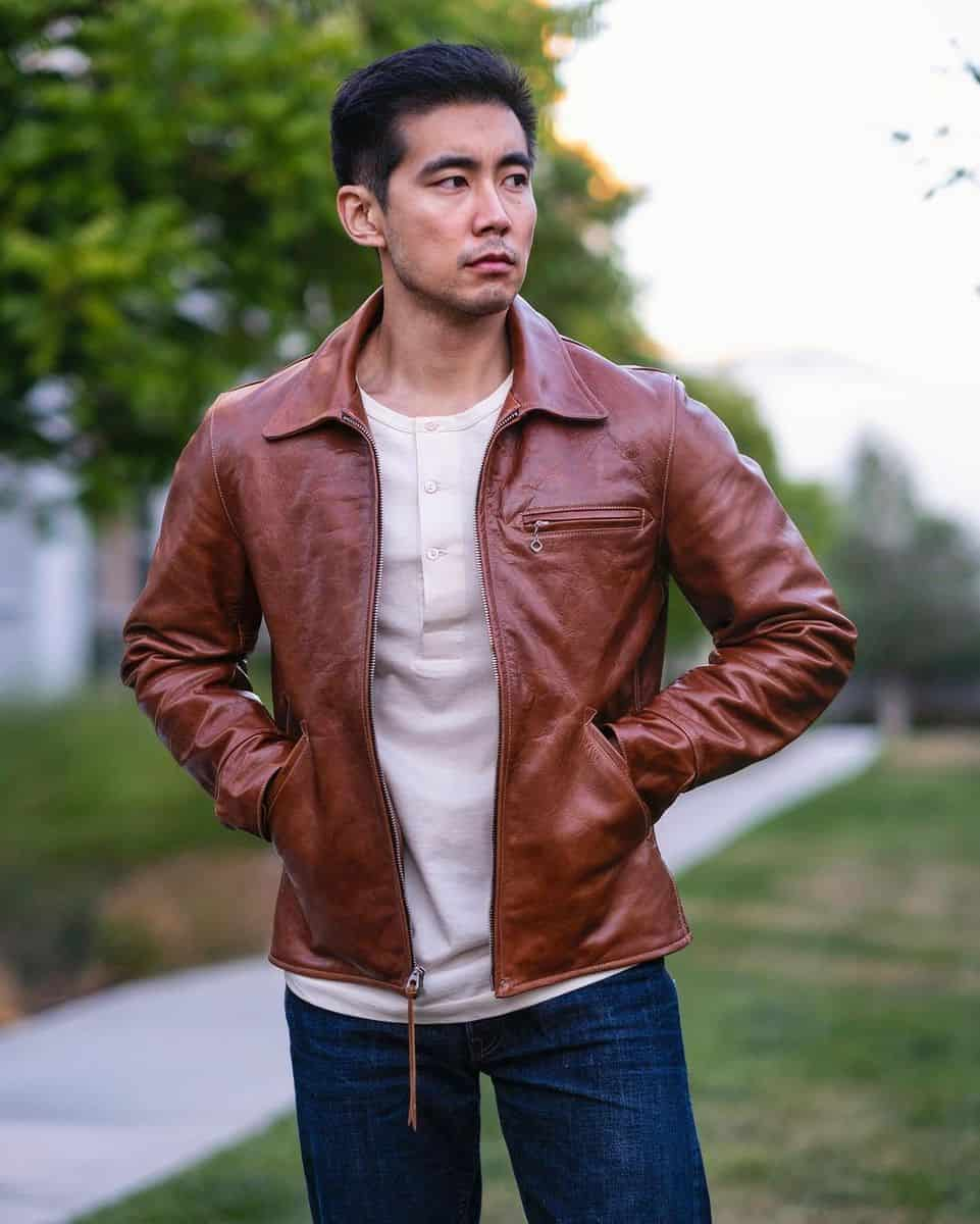 Leather and Denim Jacket Styles -thedenimdentist