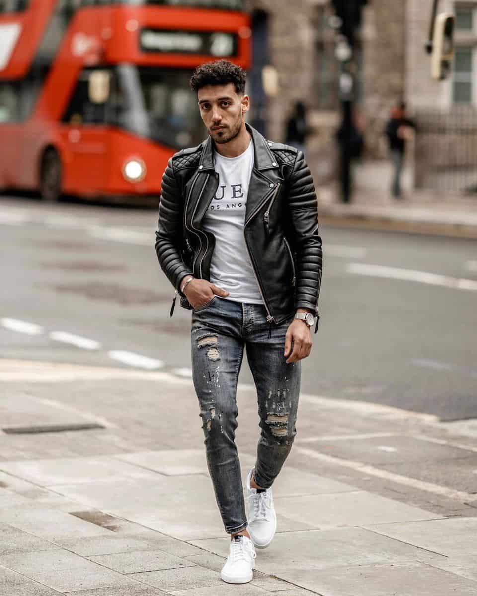 Leather and Denim Jacket Styles -youssefesawy
