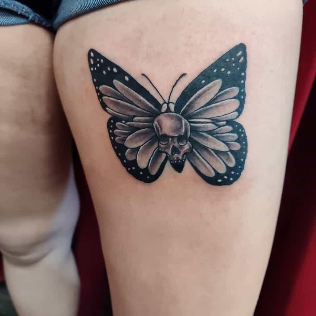 Leg Butterfly Tattoo Meaning shadez_o_grey