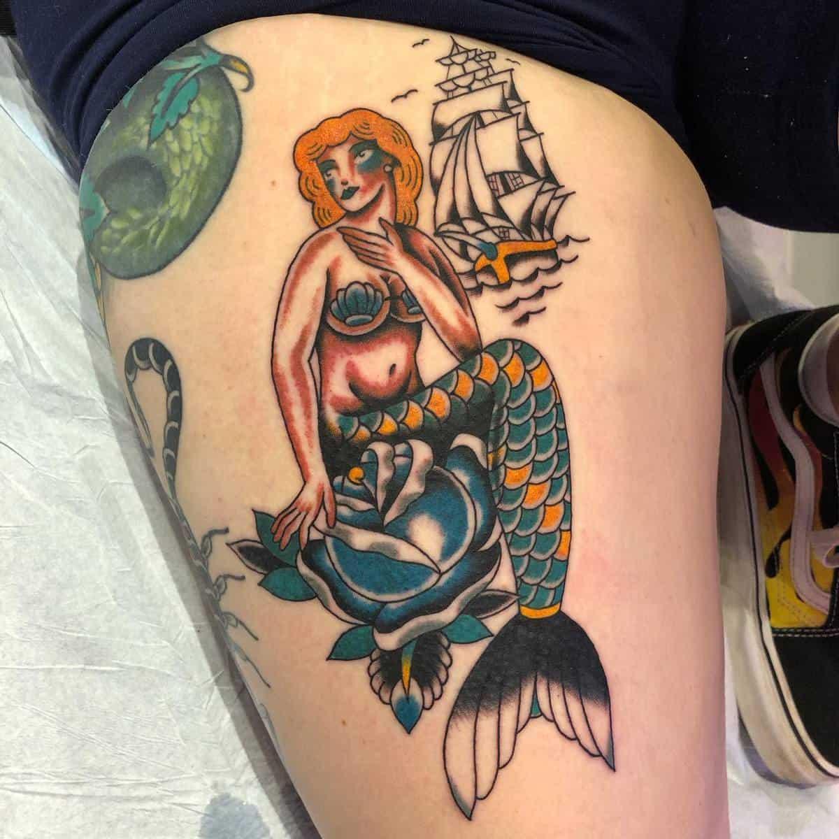 Leg Pin Up Girl Tattoo -foreversadaustin