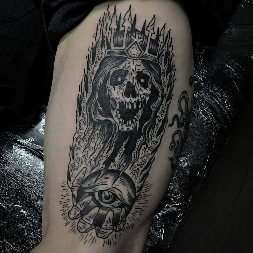 Lich Dungeons And Dragons Tattoos Danmorristattoo