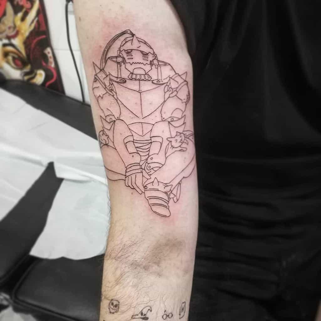 Linework Full Metal Alchemist S Crepe