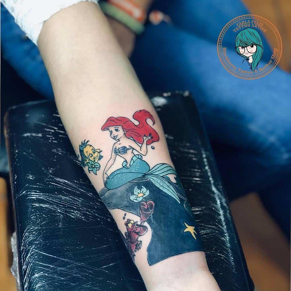 Little Mermaid And Friends Tattoo Carlafelix Tattoos