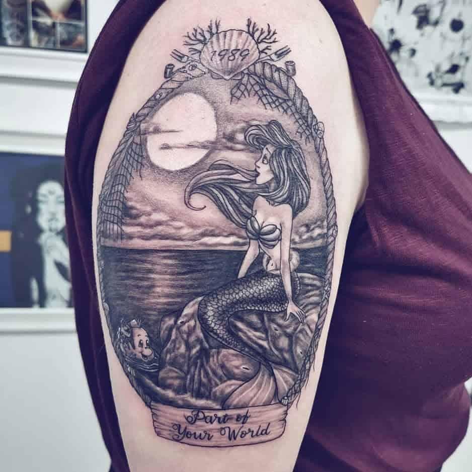 Little Mermaid Arm SleeveTattoo Inkme.shell