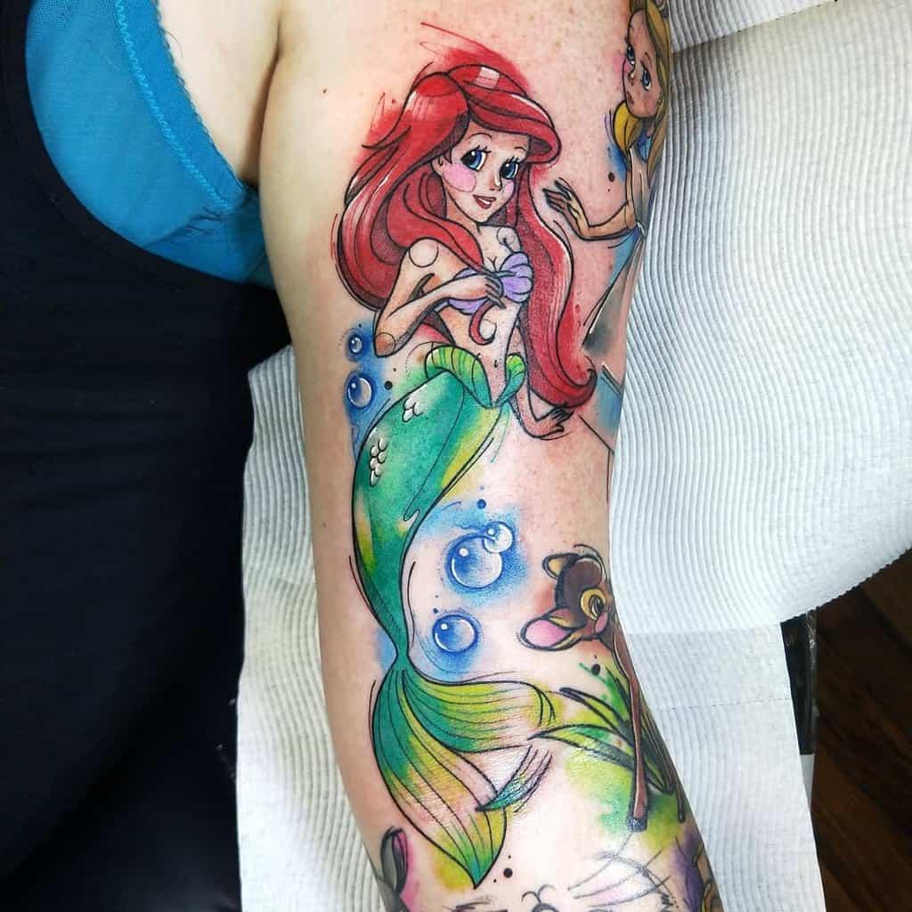 Little Mermaid Arm SleeveTattoo Serpents Ink