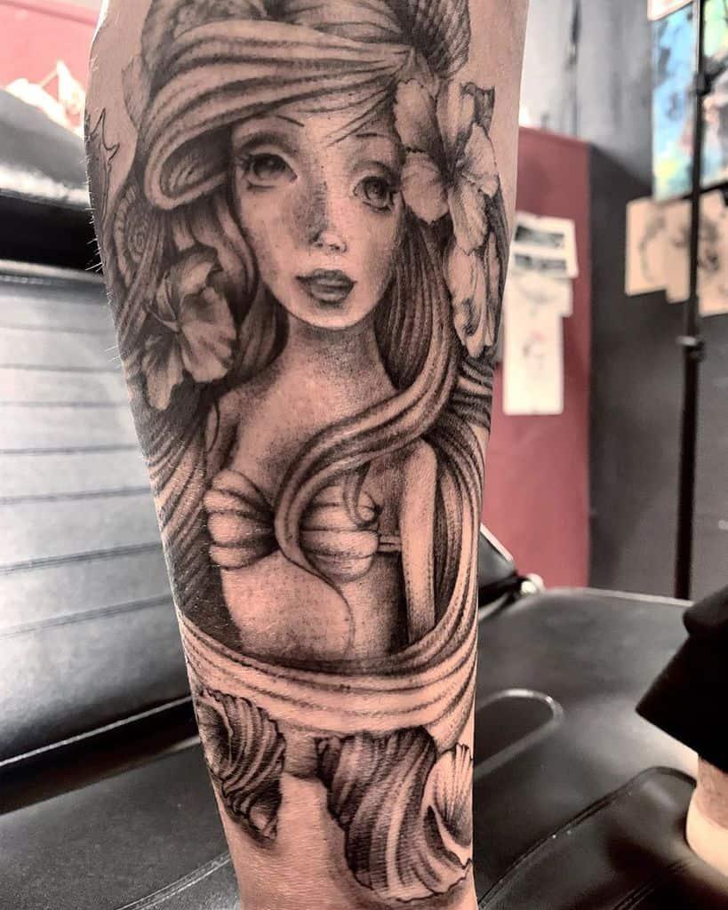 Little Mermaid Leg Tattoo Evgeniiadarland