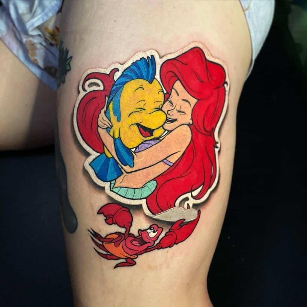 Little Mermaid Leg Tattoo Flipshades