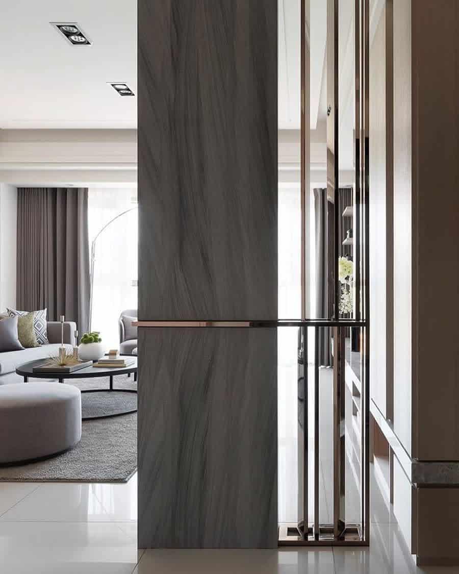 Living Room Temporary Wall Ideas -vanjadesinteriors