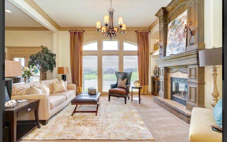 Living Room Transitional Design Designermawesome