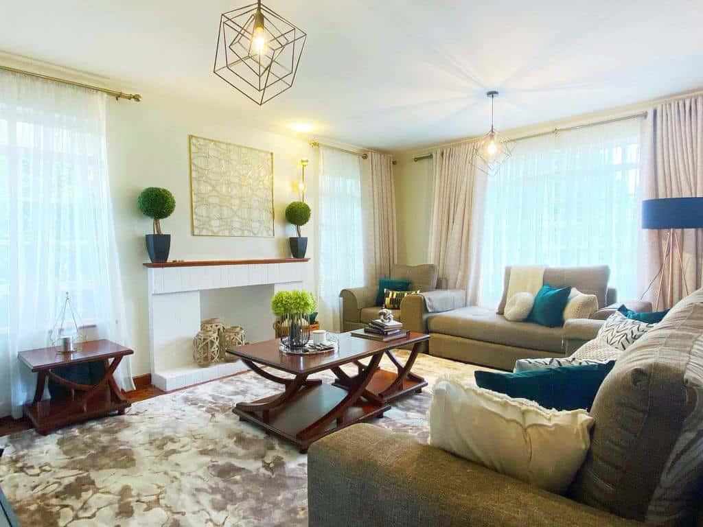 Living Room Transitional Design Shiku Interiors