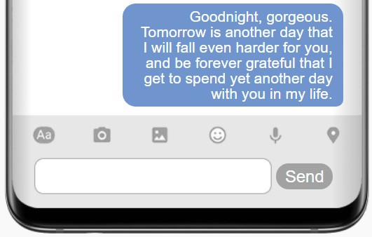 Long Goodnight Text For Her