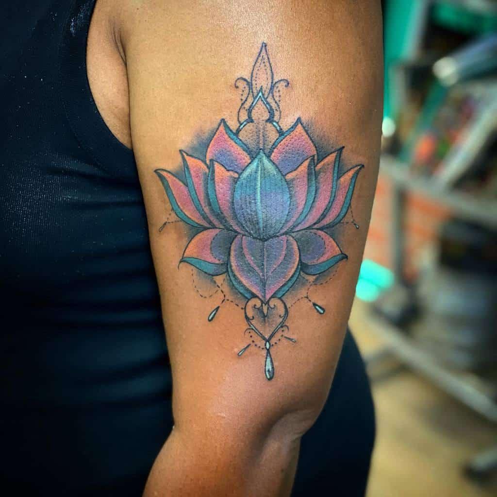 Lotus Arm Tattoos for Women basebxclusiveink