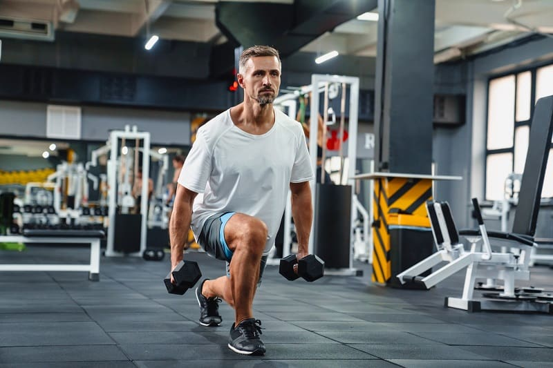Lunge-and-Curl-Dumbbell-Exercises
