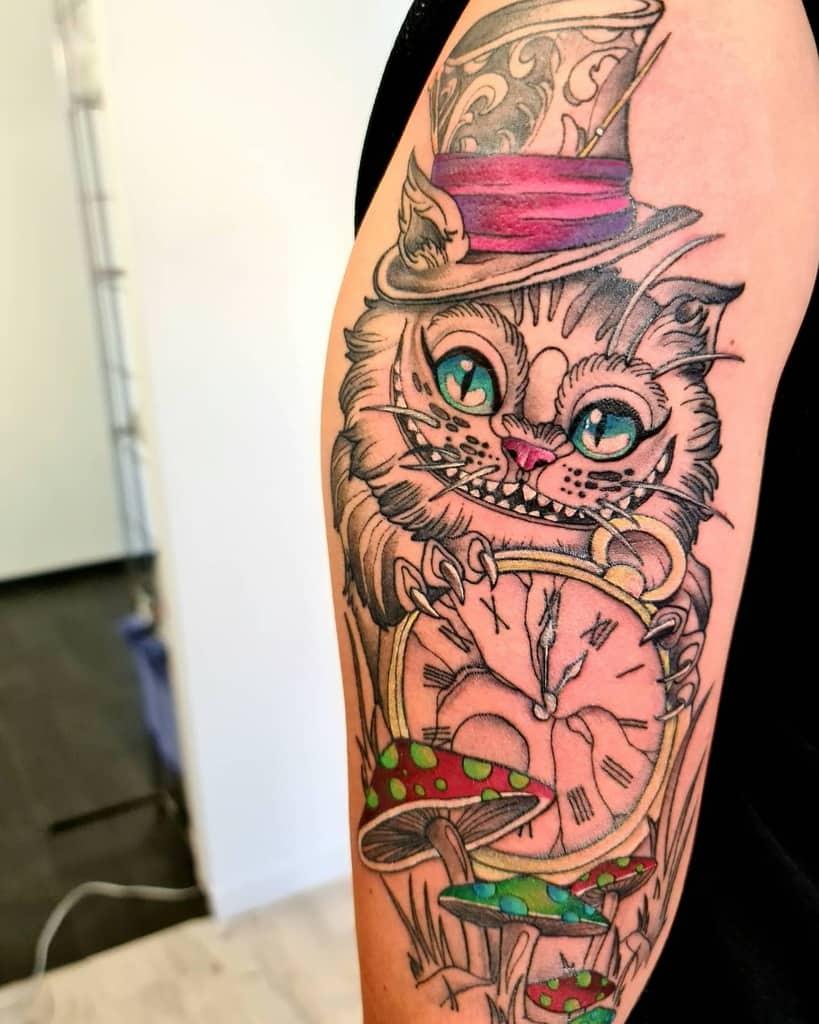 Mad Hatter Cheshire Cat Tattoo __m.a.n.u.e.l_