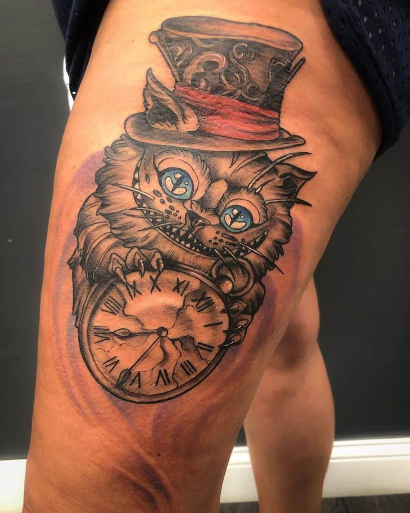 Mad Hatter Cheshire Cat Tattoo corrky199