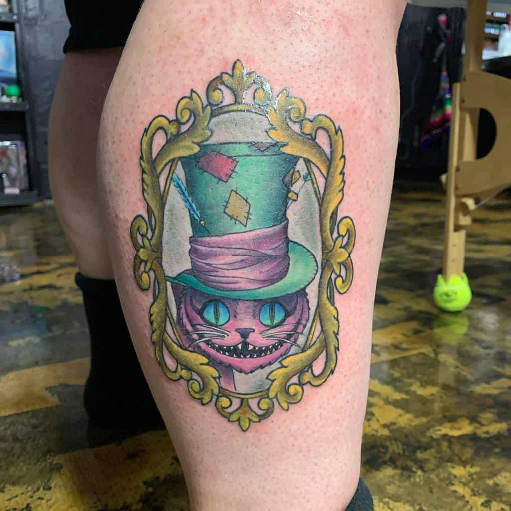 Mad Hatter Cheshire Cat Tattoo erinkirbytattoos