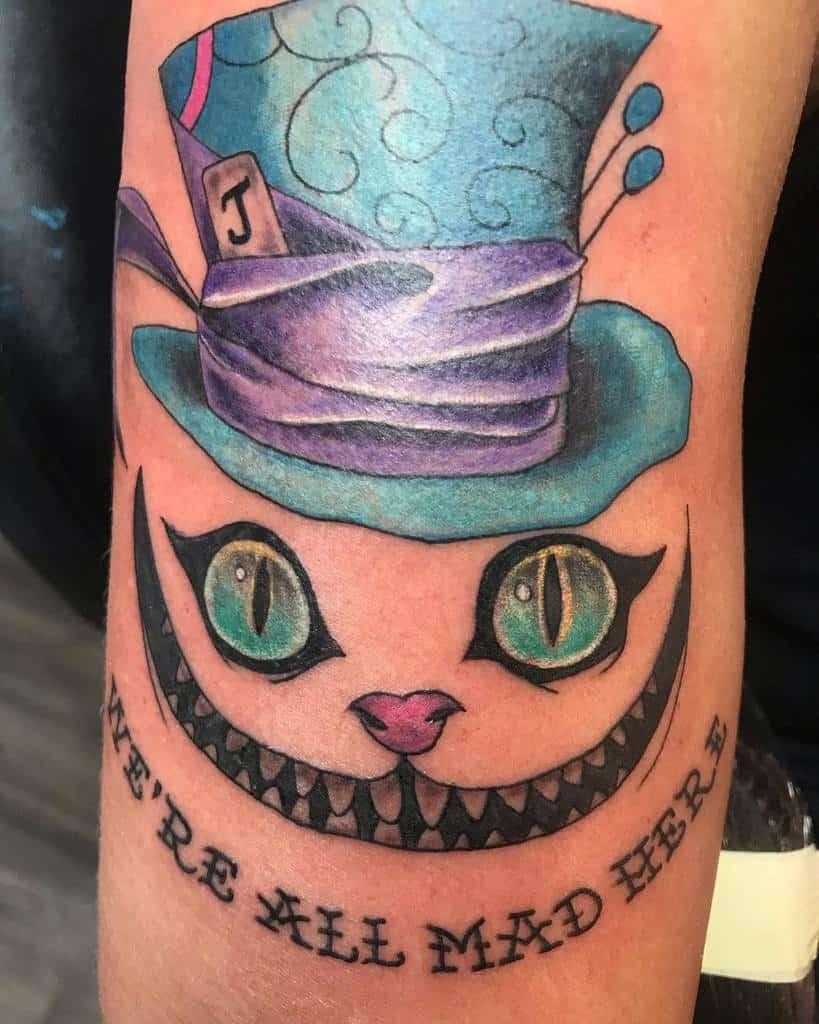 Mad Hatter Cheshire Cat Tattoo rockabilly518
