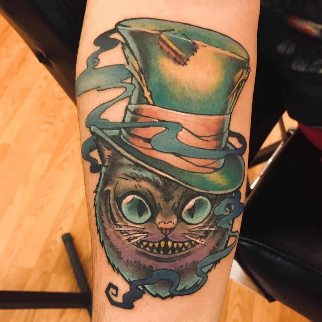 Mad Hatter Cheshire Cat Tattoo weaponix