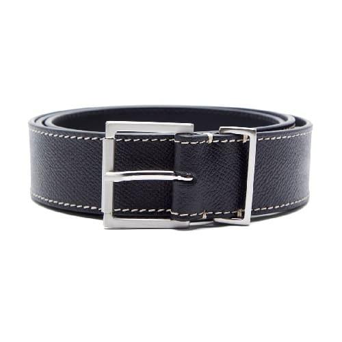 Maison Margiela Topstiched Grained-leather Belt
