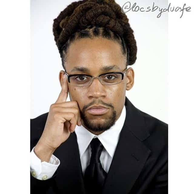 Man With Corporate Dreadlock Hairstyle For Professionals