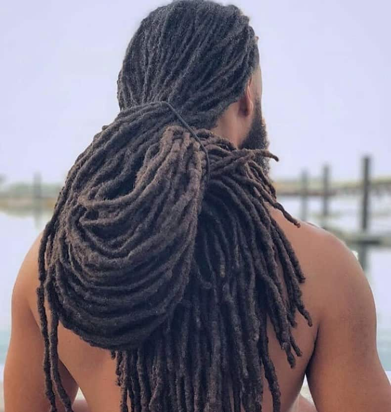 Man With Extremely Long Dreadlocks