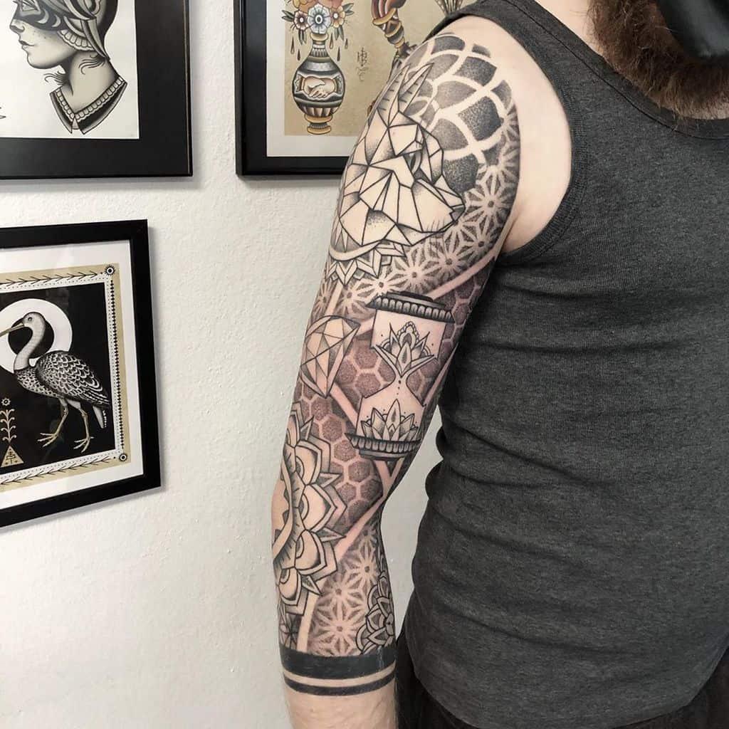 Mandala 34 sleeve tattoo nitrobolts.tattoo