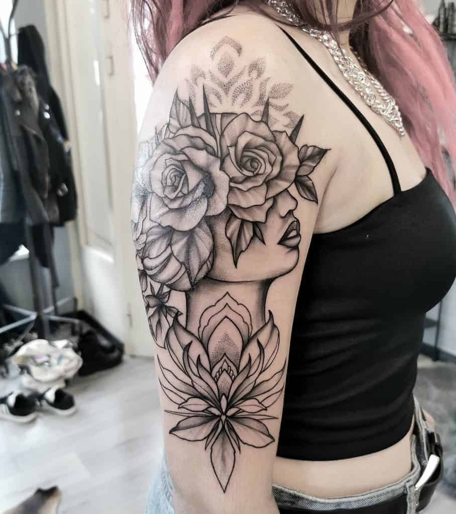 Mandala Tattoo Sleeve Filler aminkfin