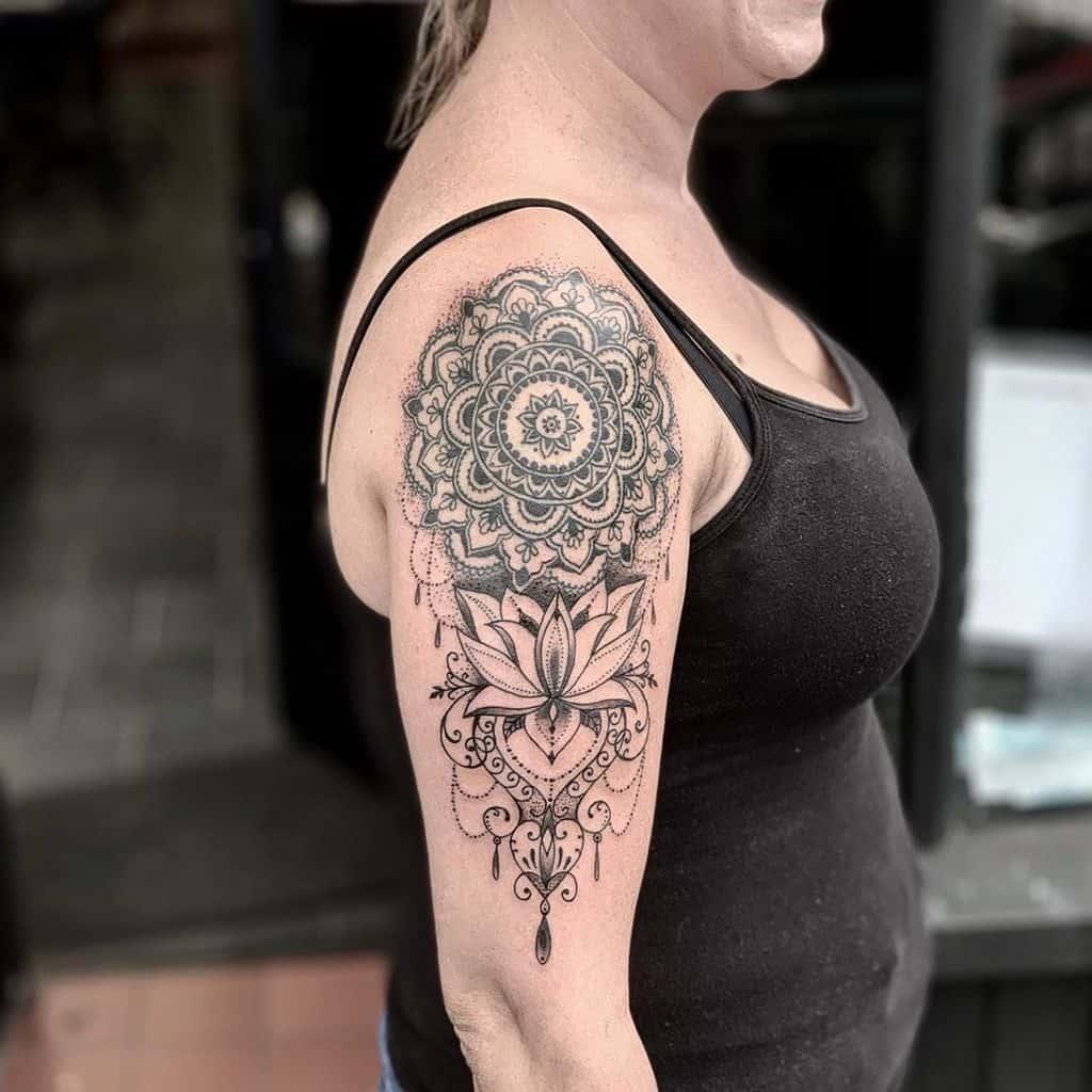 Mandala Lace Style Tattoo
