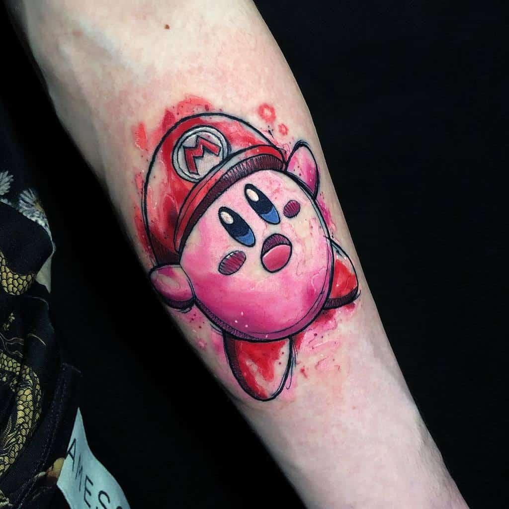Mario Bros Kirby Tattoos Mcallistertattoo