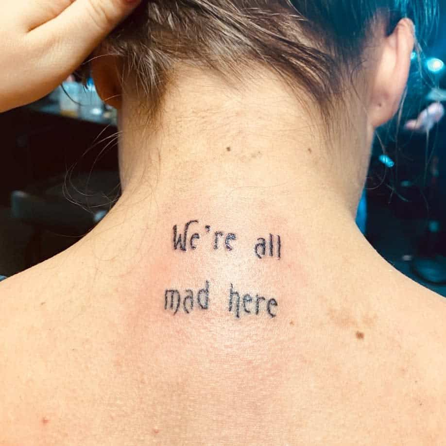 Meaningful Back of Neck Tattoos alexxalfreds