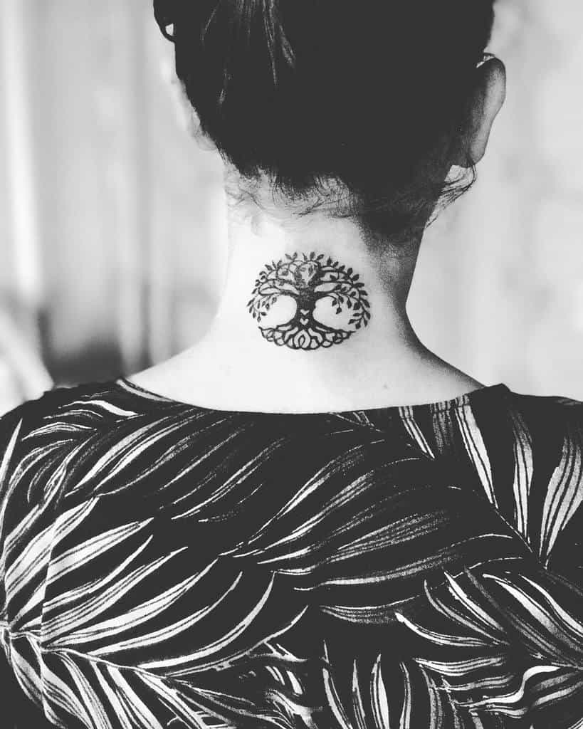Meaningful Back of Neck Tattoos peya____
