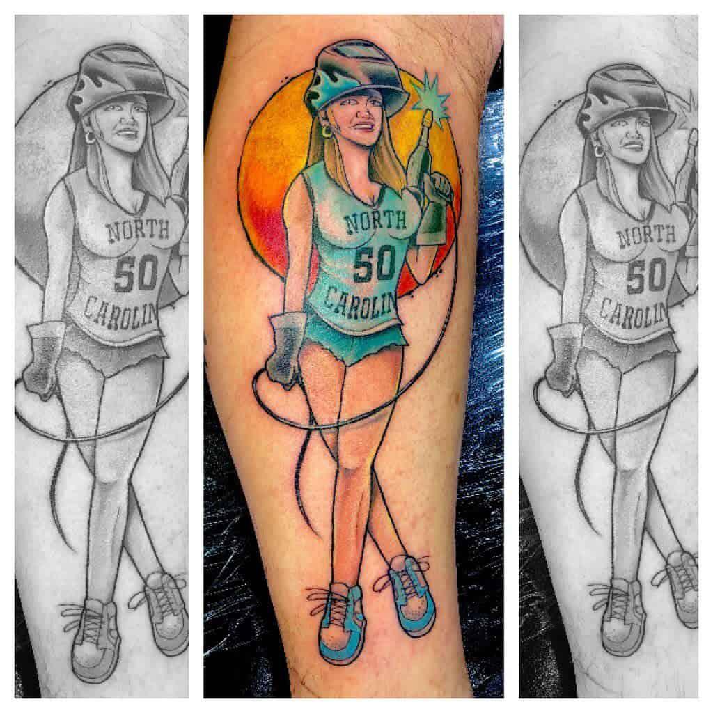 Mechanic Pin Up Girl Tattoo -chris_sinister