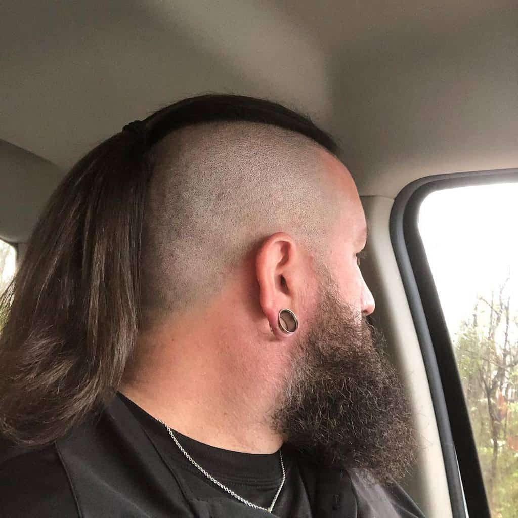 Men's Ponytail with Shaved Sides