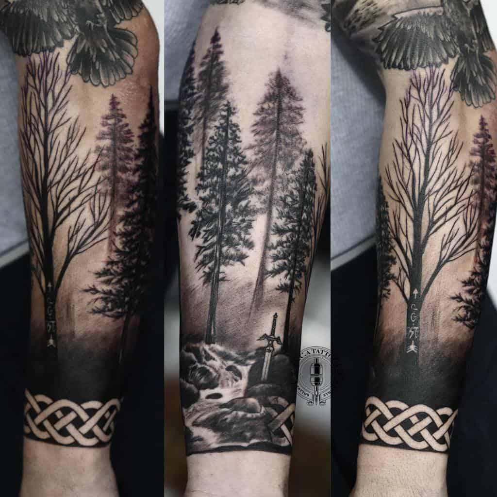 Men Forest Sleeve Tattoos ali.cheikh.tattoos