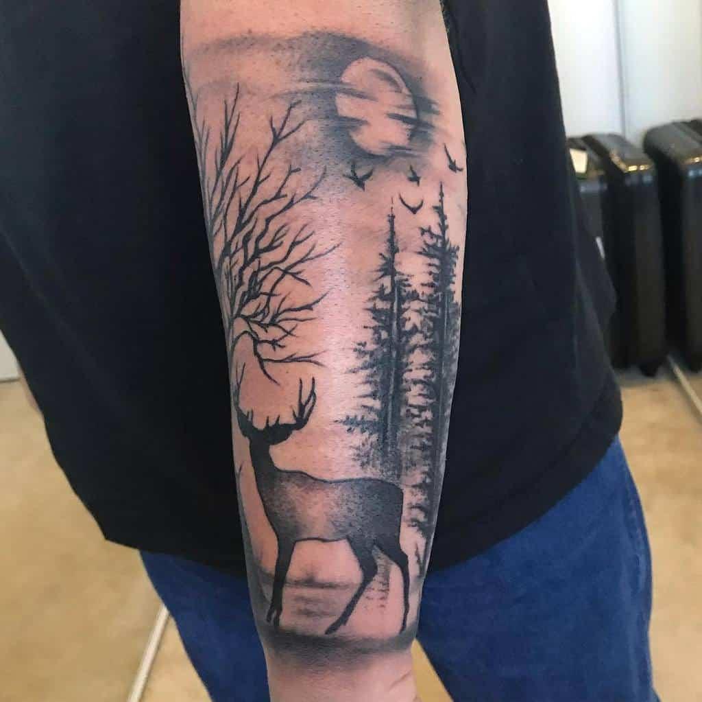 Men Forest Sleeve Tattoos errol25