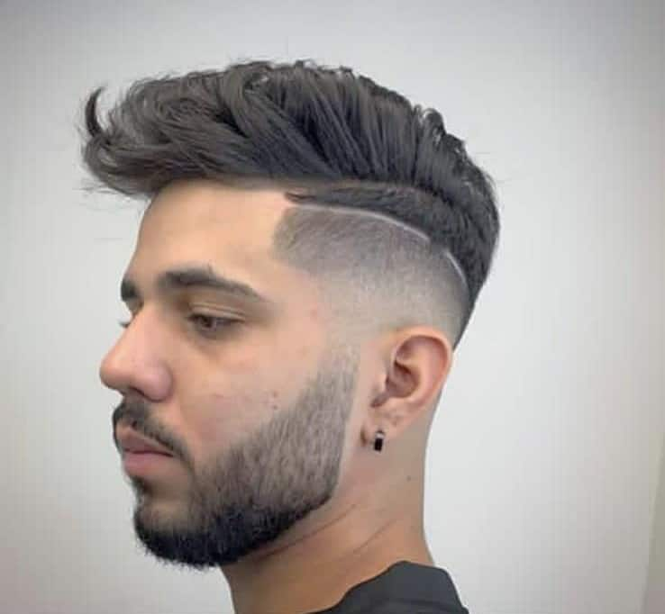 Messy Undercut With Beard lopes_barber2019