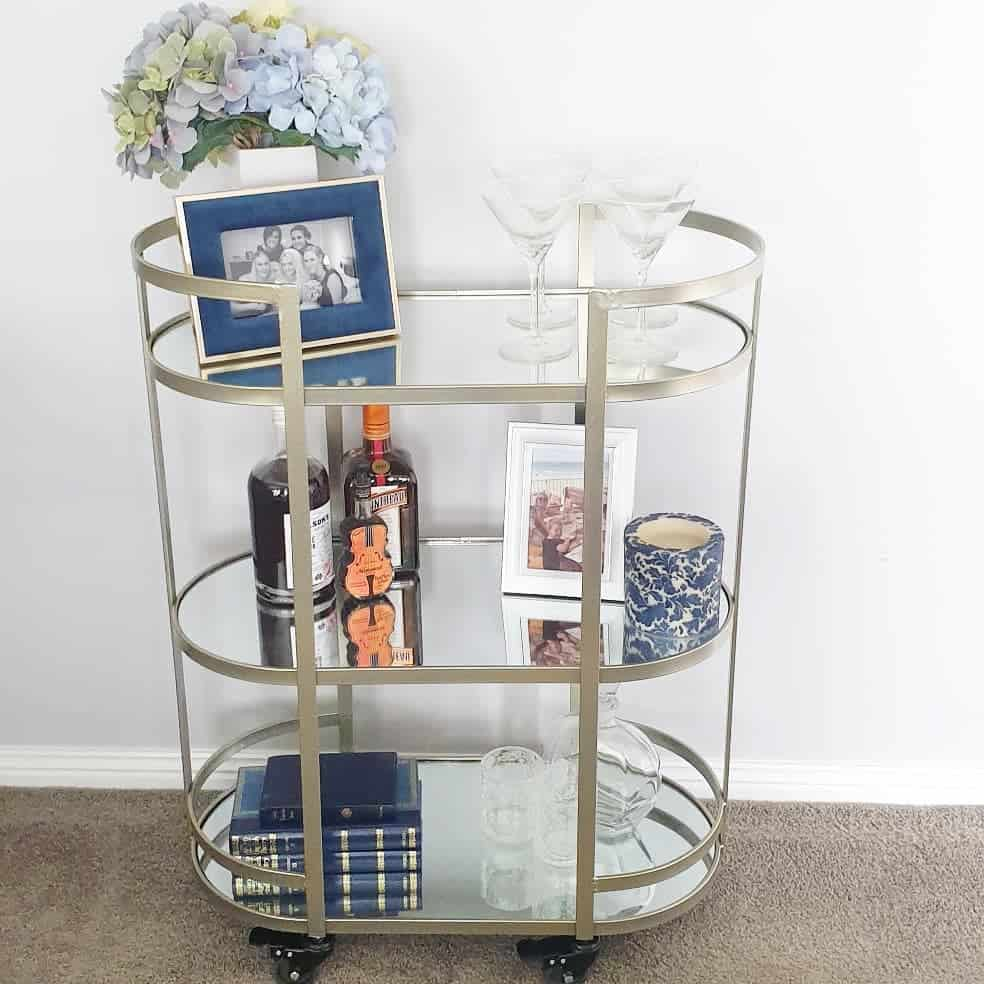 Metal Bar Cart Ideas -finchandhepburn